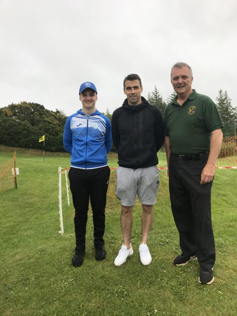 Seamus Coleman at Sandfield Pitch and Putt